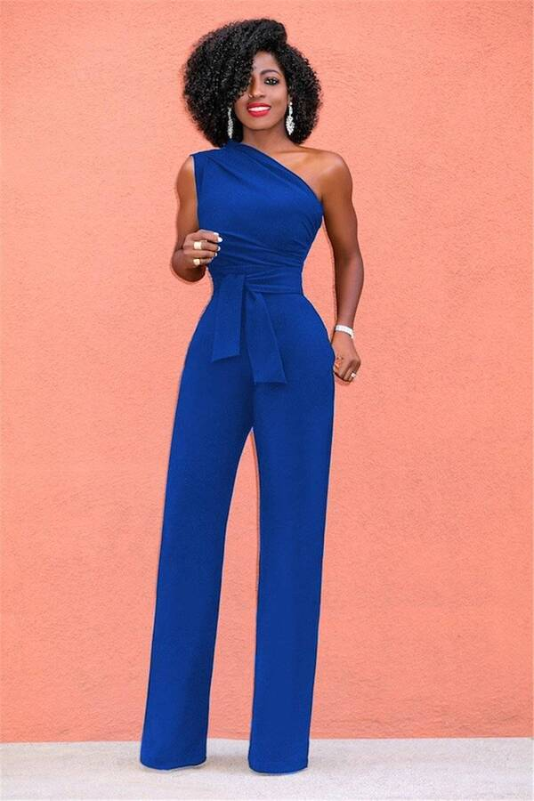 Sexy One Shoulder Romper for Women Jumpsuits Suits & Sets Women's Clothing & Accessories