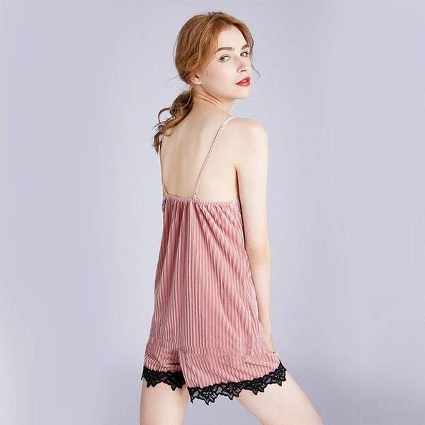 Sexy Women's Pajama Top and Shorts Pajama Sets Sleepwear & Loungwear Women's Clothing & Accessories