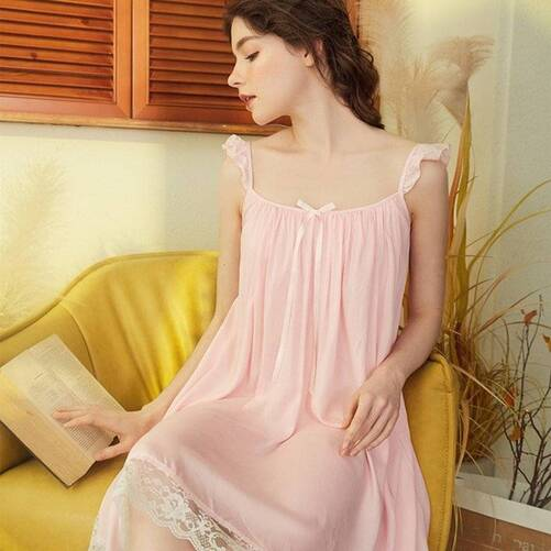 Simple Cotton Nightgown for Women Nightgowns & Sleepshirts Sleepwear & Loungwear Women's Clothing & Accessories