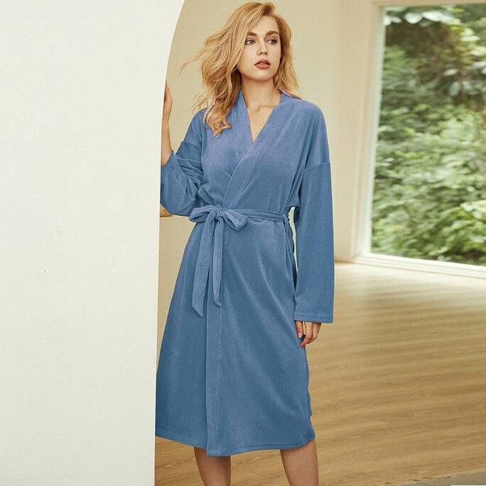 Winter Flannel Bathrobe for Women Robes Sleepwear & Loungwear Women's Clothing & Accessories