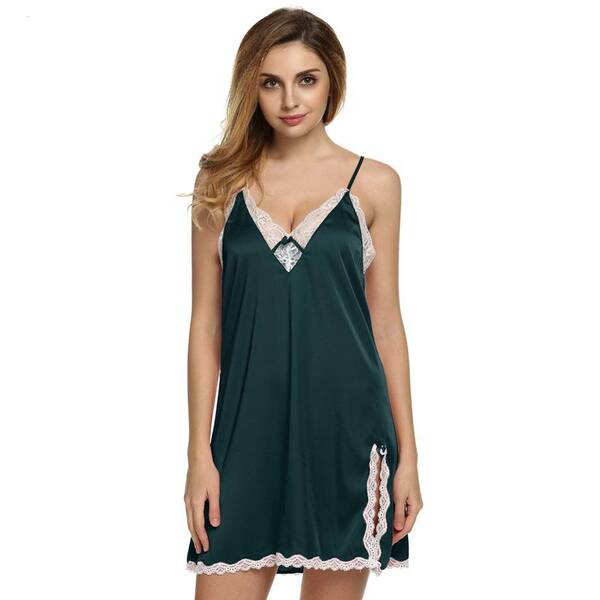 Women's Lace Trim Nightgown Nightgowns & Sleepshirts Sleepwear & Loungwear Women's Clothing & Accessories