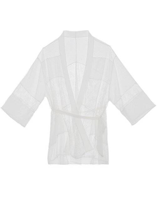 Women's Long Sleeved Lace Decoraed Robe Robes Sleepwear & Loungwear Women's Clothing & Accessories
