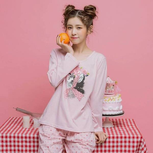Women's Long Sleeved Printed Cotton Pajamas Pajama Sets Sleepwear & Loungwear Women's Clothing & Accessories