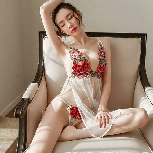 Women's Negligee with Floral Embroidery Nightgowns & Sleepshirts Sleepwear & Loungwear Women's Clothing & Accessories