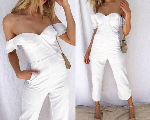 Women's Off Shoulder Jumpsuit Jumpsuits Suits & Sets Women's Clothing & Accessories