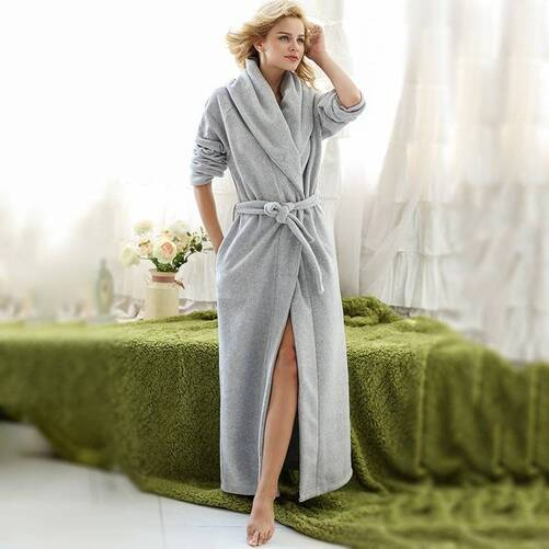 Women's Soft Fleece Long Robe Robes Sleepwear & Loungwear Women's Clothing & Accessories