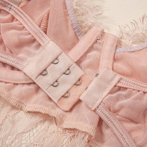 Women's Teddy Bodysuit in Pink Color Bodysuits Suits & Sets Women's Clothing & Accessories