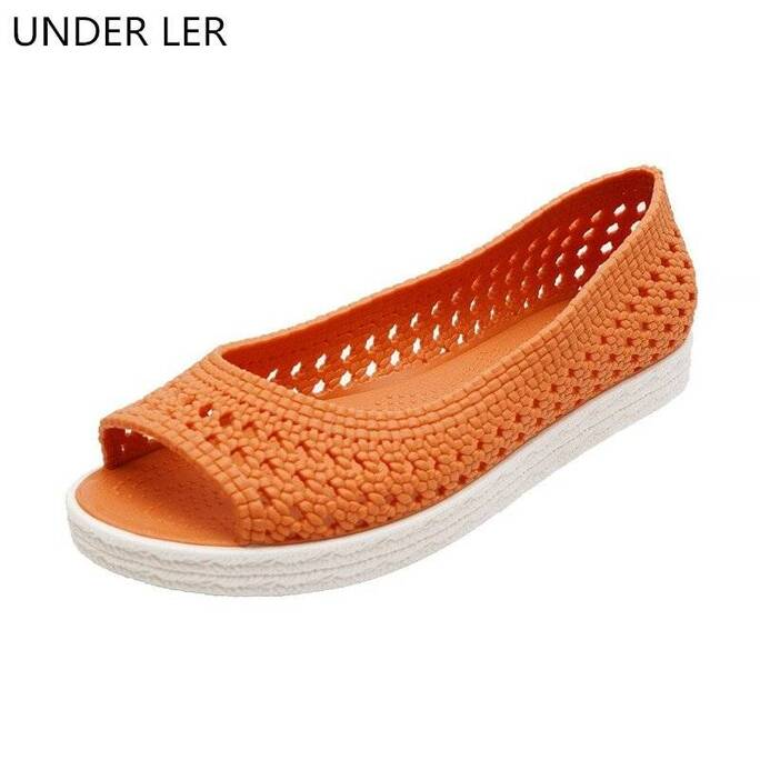 2021 Jelly Plastic Sandals Ladies Summer Soft Bottom Mom Flat Beach Sandals And Slippers Women Shoes Women Shoes Women's Sandals