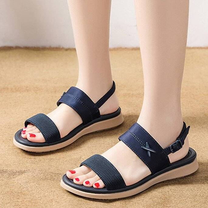 2021 New Women's Outdoor Sandals Elastic Band Soft Bottom Ladies Casual Comfortable Shoes Women Beach Shoes Female Footwear Women Shoes Women's Sandals