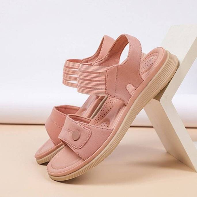 2021 Summer Sandals Women Beach Holiday Shoes Thick Sole Women Sandals Pink Black Soft Ladies Summer Shoes Plus Size 42 A3283 Women Shoes Women's Sandals