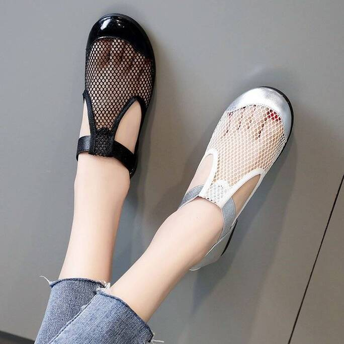 Apanzu Women Sandals Women New Flats 2021 Summer Ladies Mesh Shoes Woman Soft Breathable Sneakers Women Casual All-match shoes Women Shoes Women's Sandals