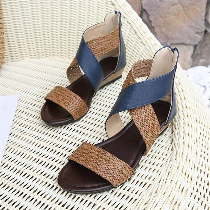 Ladies Shoes Vintage Sandals Boho Woven Casual Anti-slip Soft Comfortable For Women Summer Beach Women Shoes Women's Sandals