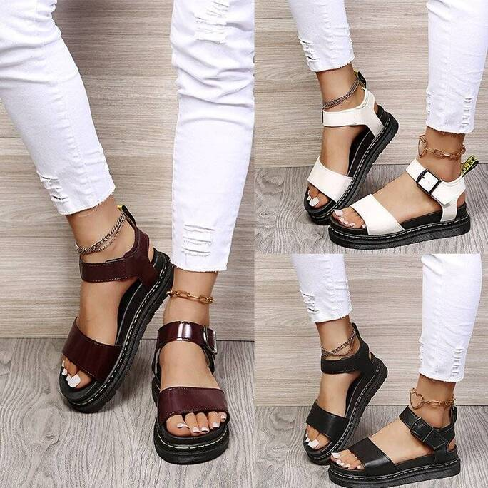 New Platform Women Sandals 2021 Summer Lady Buckle Strap Light Comfort Shoes Female Outdoor Casual Beach Shoes Soft Women Shoes Women's Sandals