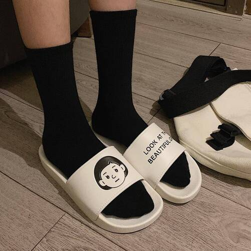 Sandals Ladies House Indoor Slippers for Women Casual Flat Beach Shoes Summer 2021 New Japanese Soft Anime Non Slip Footwear Women Shoes Women's Sandals