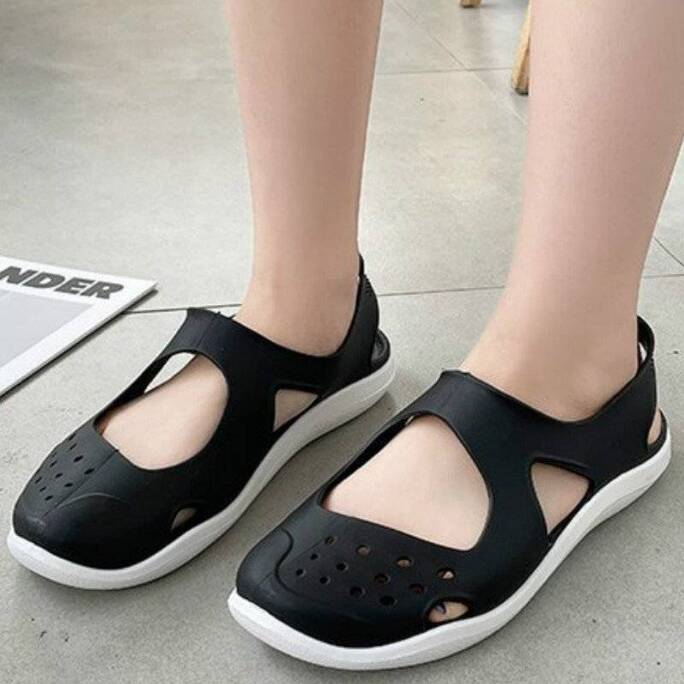 Soft Flat Women Sandals Summer Beach Shoes Hollow Out Mesh Sandals Casual Jelly Shoes Female Slip on Footwear Sandalias Mujer Women Shoes Women's Sandals