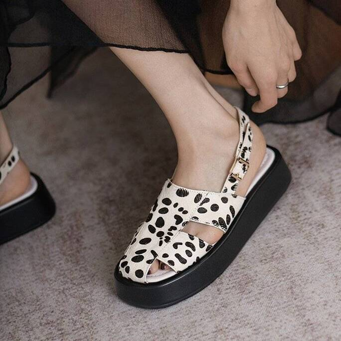 Summer Rome Sandals for Women Fashion Leopard Gladiator Shoes 2021 Spring Trendy Design Daily Beach Casual Sandalias Women Shoes Women's Sandals