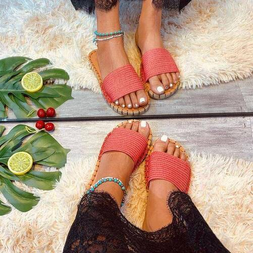 Women Slippers Linen Sewing Flat Open Toe Solid Color Casual Ladies Sandals Summer Outdoor Beach Soft Comfy Female Shoes Women Shoes Women's Sandals