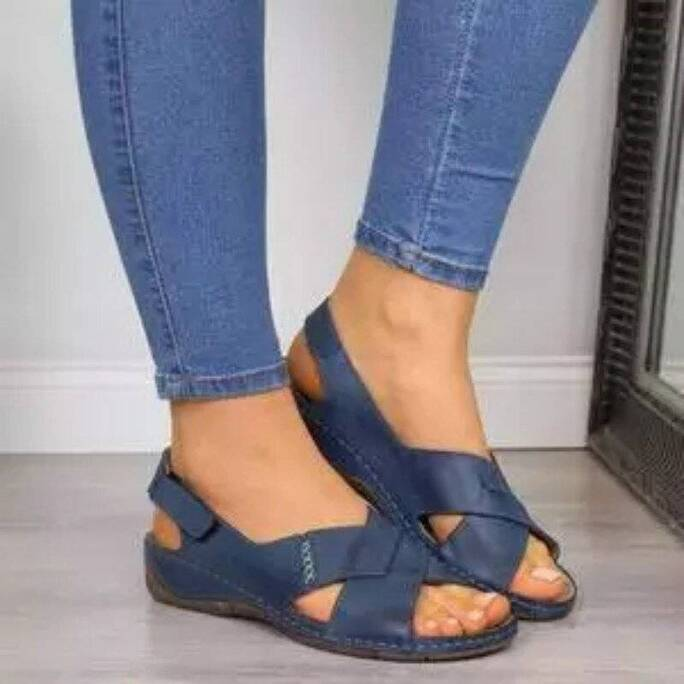 Women's Sandals Summer Wedges New Fashion Casual Peep Toe Women Shoes Solid Beach Plus Size Soft Comfortable Ladies Sandals Women Shoes Women's Sandals