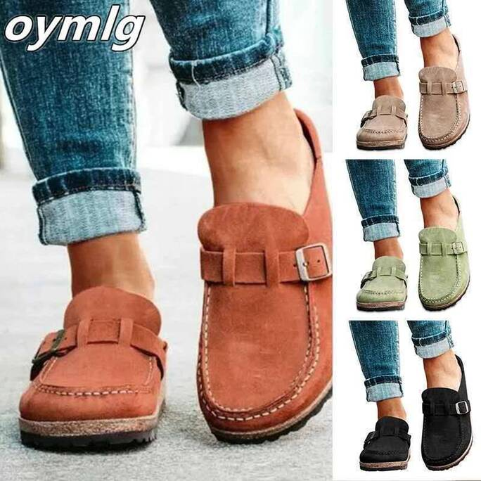 new women summer slippers spring sandals fashion solid buckle women flats shoes casual beach ladies plus size summer sandals Women Shoes Women's Sandals